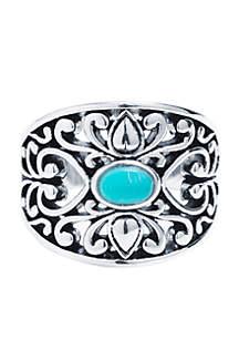 Silver Filigree Novelty Ring