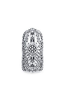 Silver Plated Large Filigree Statement Ring