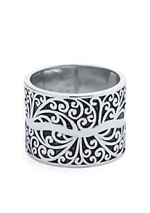 Belk Silverworks Artisan Filigree Band Ring