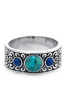 Silver Plated Artisan Band Ring