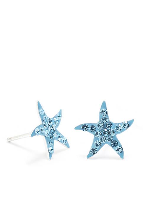 Belk Silverworks Sterling Silver Starfish Stud Earrings