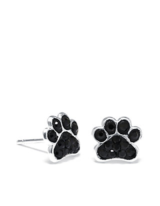 e6417dd6a Belk Silverworks. Belk Silverworks Sterling Silver Pave Crystal Dog Paw  Stud Earrings