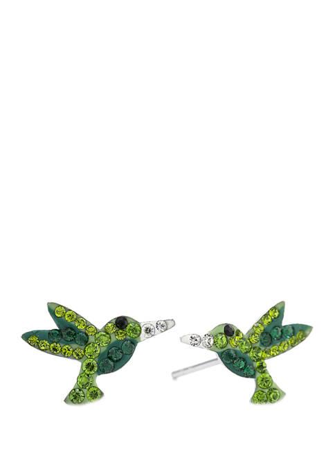 Belk Silverworks Boxed Sterling Silver Crystal Pave Hummingbird