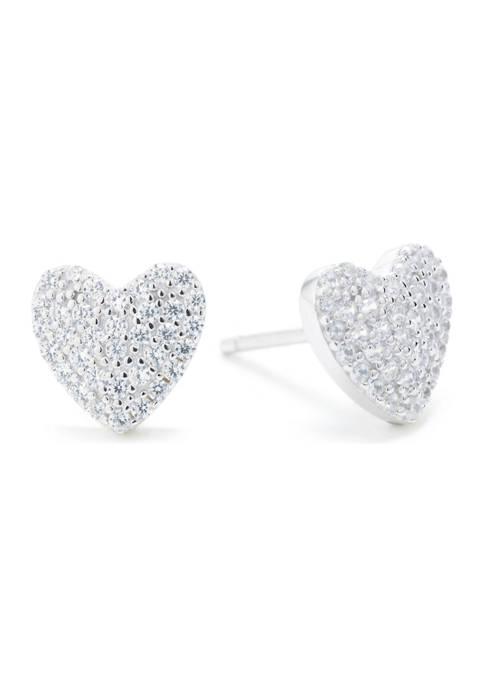 Belk Silverworks Boxed Sterling Silver Cubic Zirconia Heart