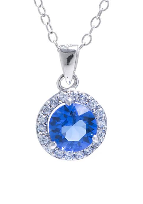 Belk Silverworks Sterling Silver 6 MM Blue Swarovski