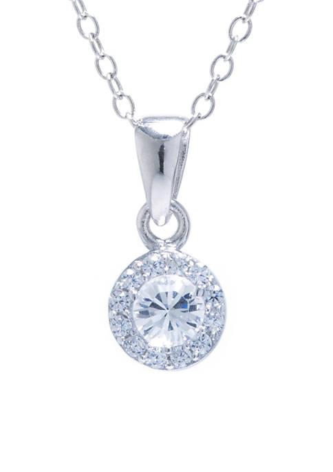 Belk Silverworks Sterling Silver 6MM Clear Swarovski Crystal