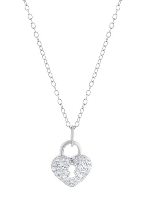 Belk Silverworks Boxed Sterling Silver Heart Cubic Zirconia