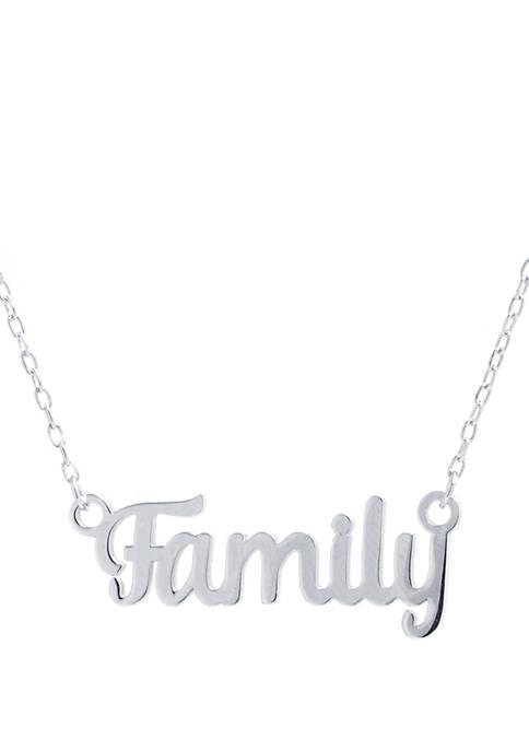 Belk Silverworks Sterling Silver Family Script Necklace
