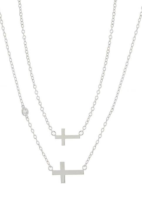 Infinity Silver Boxed Fine Silver Plated Cross Mommy