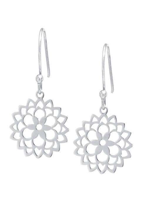 Belk Silverworks Sterling Silver Laser Cut Flower Drop