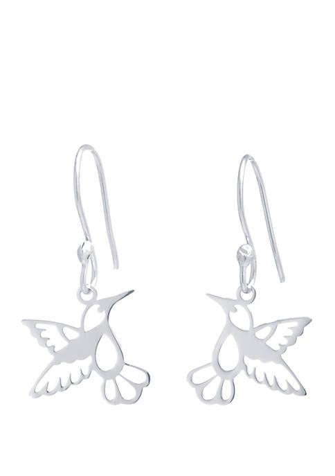 Belk Silverworks Sterling Silver Laser Cut Hummingbird Drop