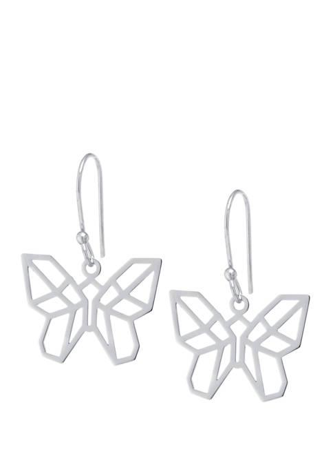 Belk Silverworks Sterling Silver Laser Cut Butterfly Drop