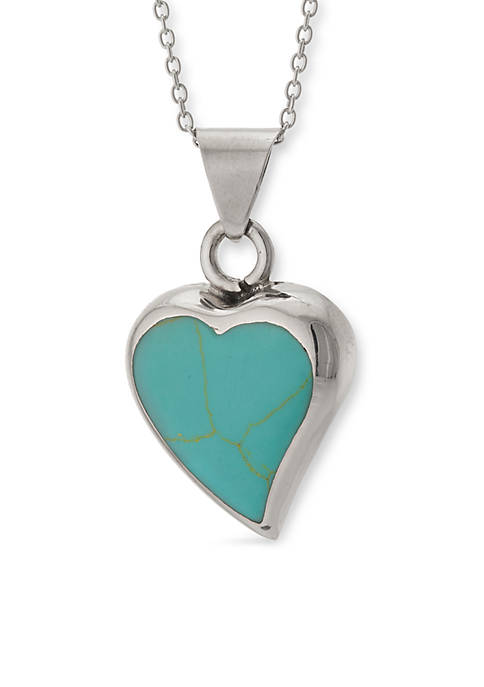 Belk Silverworks Sterling Silver Reconstituted Turquoise Heart