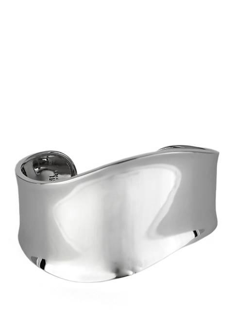 Infinity Silver Sterling Silver Wave Cuff Bracelet