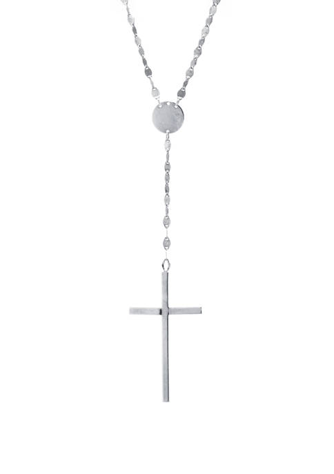 Infinity Silver Sterling Silver High Polished Cross Y