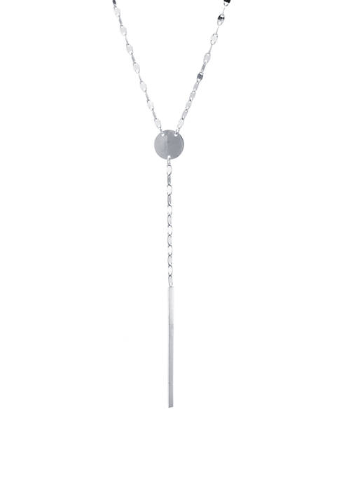 Sterling Silver High Polished Cross Y-Necklace