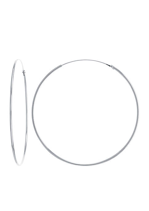 Belk Silverworks Sterling Silver Endless Tube Hoop Earrings
