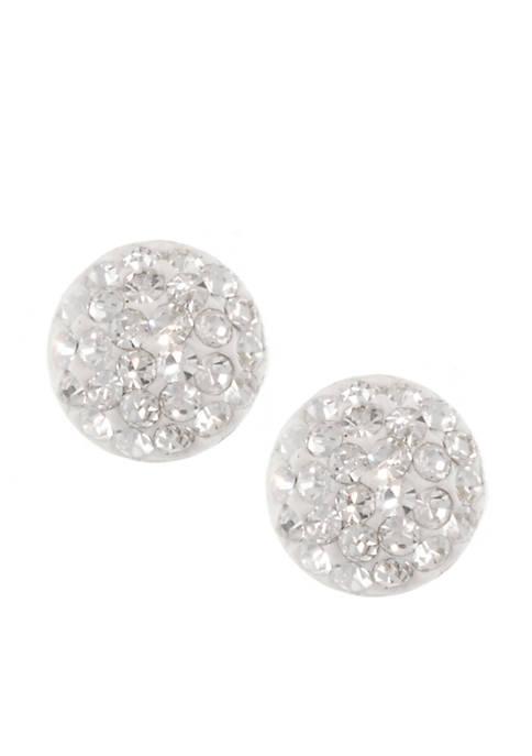 Belk Silverworks Round Half Ball Stud Earrings