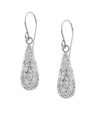 04b74013d Belk Silverworks. Belk Silverworks Sterling Silver Clear Pave Crystal  Teardrop Earrings