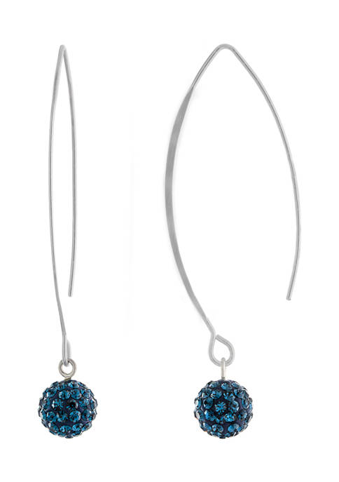 Infinity Silver Sterling Silver Dark Blue Pave Crystal