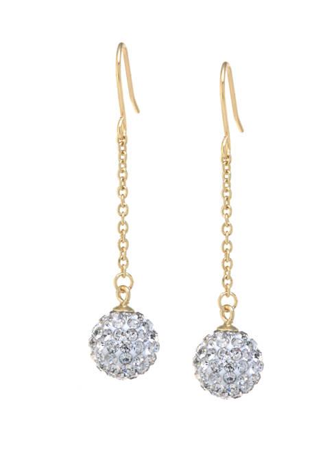 Belk Silverworks Gold Over Sterling Silver Pave Crystal