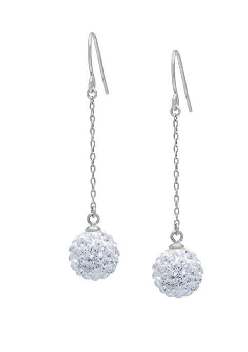 Belk Silverworks Sterling Silver Pave Crystal Ball Chain