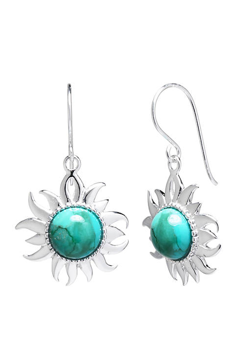 Belk Silverworks Sterling Silver Enhanced Sun Drop Earrings