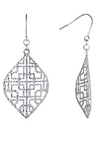 Sterling Silver Mid Kite Drop Earrings