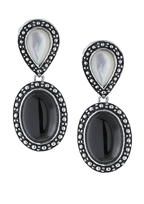 Belk Silverworks Sterling Silver Oval Onyx and Mother