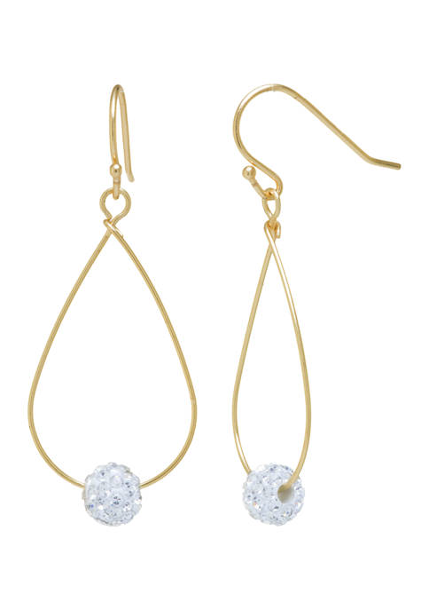 Belk Silverworks Yellow Gold Over Sterling Silver Crystal