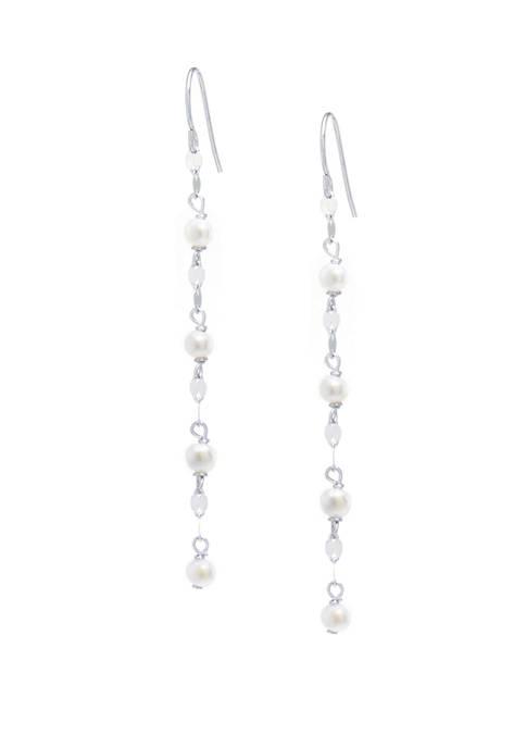 Belk Silverworks Sterling Silver Freshwater Pearl Mirror Chain