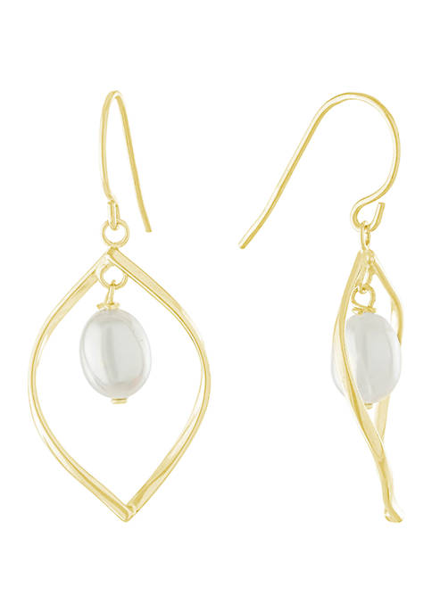 Belk Silverworks Yellow Gold Over Sterling Silver Freshwater