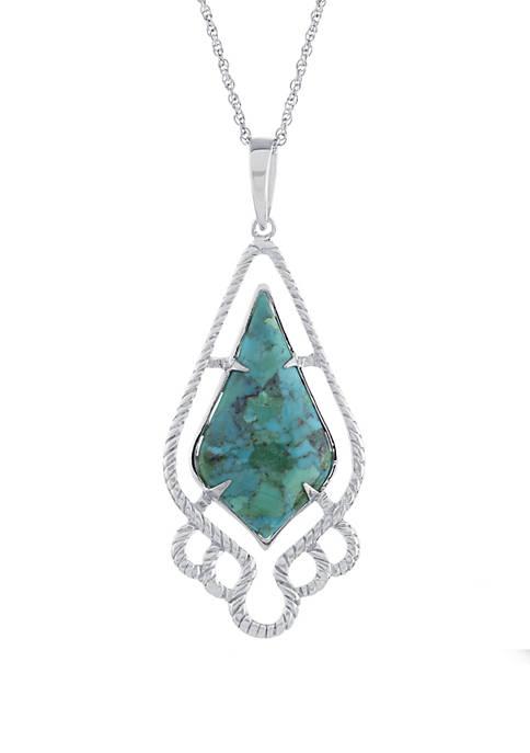 Belk Silverworks Sterling Silver Enhance Turquoise Braided Drop