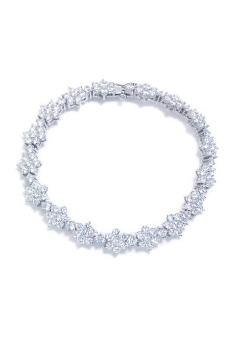 Infinity Silver Sterling Silver AAA Grade CZ Flower