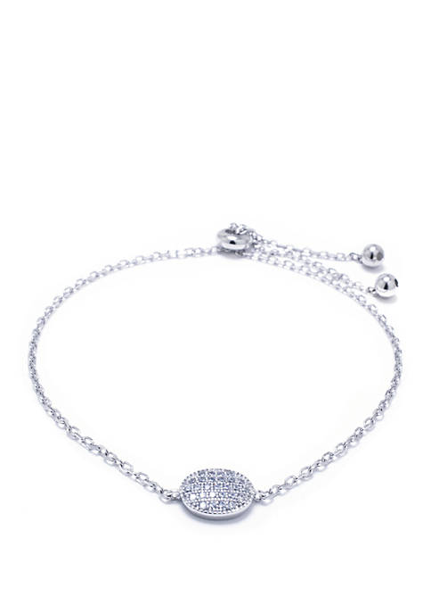 Sterling Silver Cubic Zirconia Bracelet