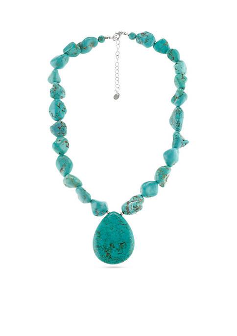 Silver-Tone Nugget Necklace