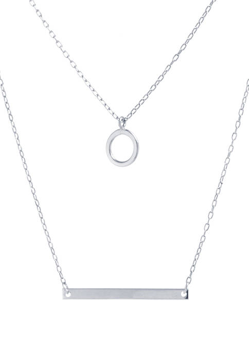 Belk Silverworks Sterling Silver Open Circle and Bar