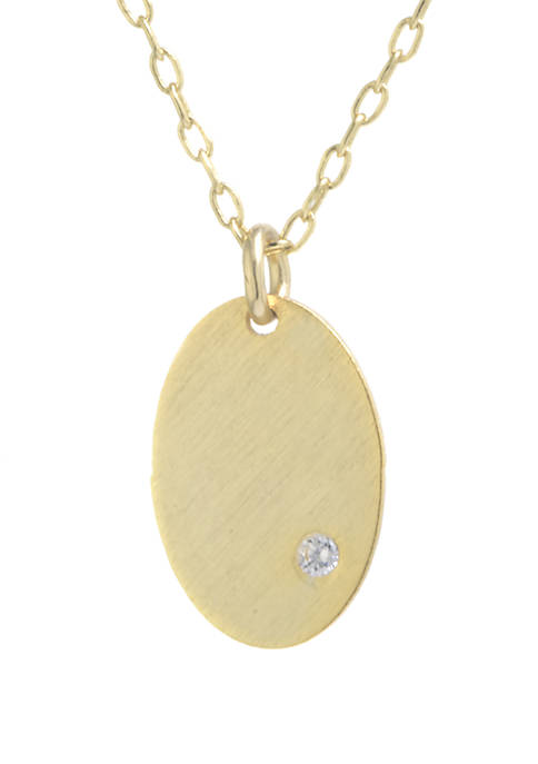 Belk Silverworks Gold Over Sterling Silver Brushed Oval