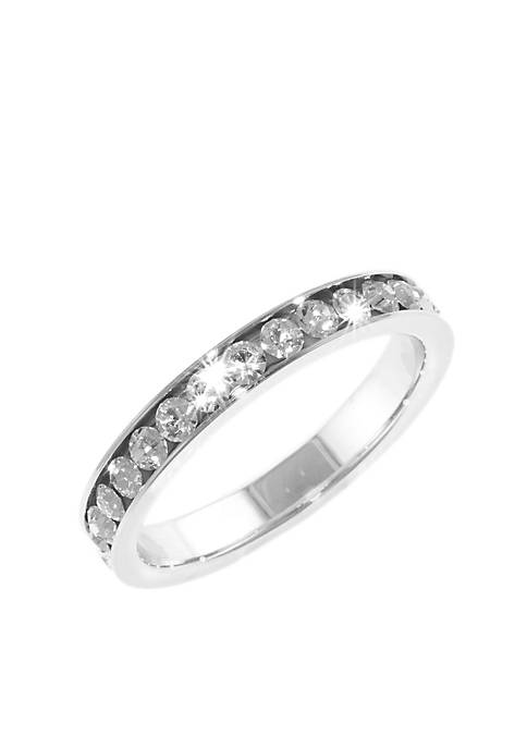 Belk Silverworks Sterling Silver and Pave Crystal Clear