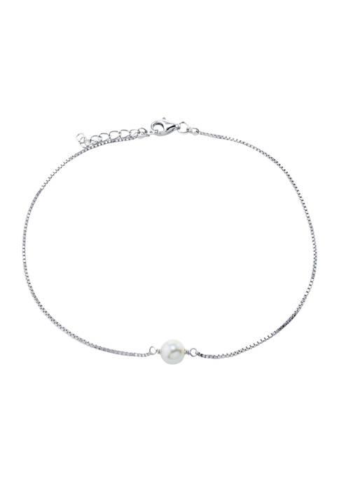 Belk Silverworks Sterling Silver Single Freshwater Pearl Anklet