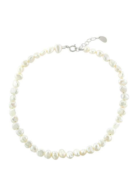 Belk Silverworks Sterling Silver Freshwater Pearl Anklet