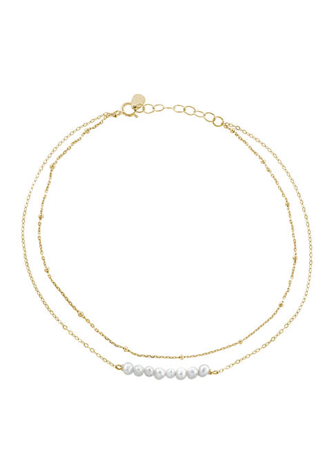 Belk Silverworks Yellow Gold Over Sterling Silver Double