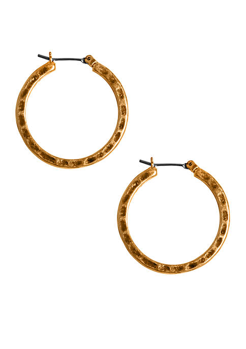 Lucky Brand Gold-Tone Small Hoop Earrings