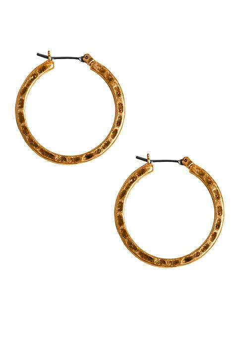 Small Round Hoop Earrings