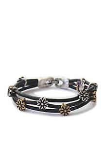 Two-Tone Floral Bracelet