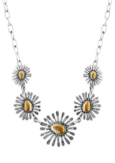 Lucky Brand Floral Frontal Necklace