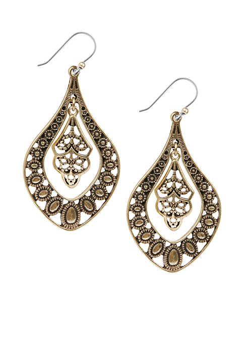 Lucky Brand Oblong Earrings