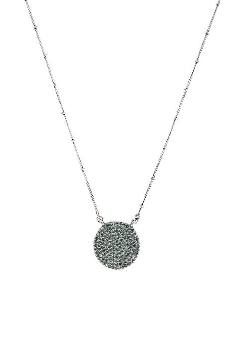 Lucky Brand Silver Pave Necklace
