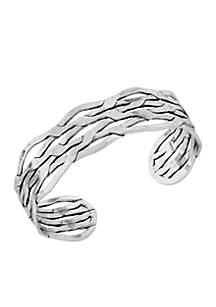 Silver Open Cuff Bracelet