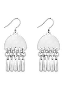 Silver-Tone Paddle Drop Earrings